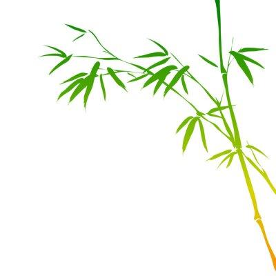 Adesivo fundo com ramos de bambu
