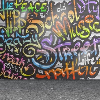 Adesivo Fundo da parede de Graffiti