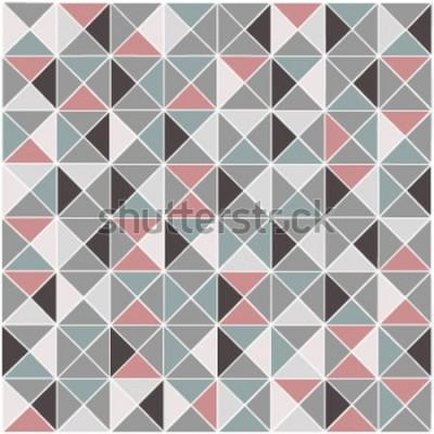 Adesivo Fundo de padrão de cor geométrica raster sem costura raster