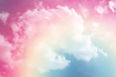 Adesivo fundo de sol e nuvem com um colorido pastel