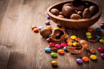 Adesivo Fundo do chocolate de Easter