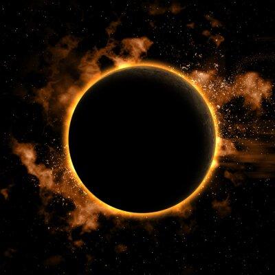 Adesivo Fundo do espaço com planeta eclipsado