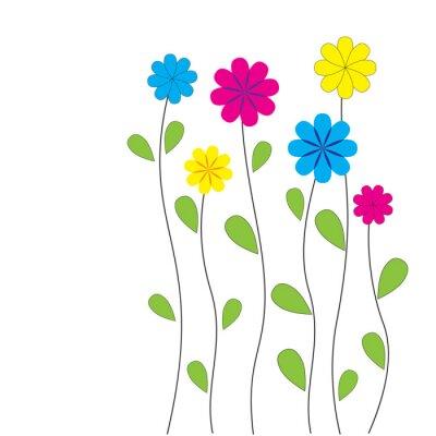Adesivo Fundo floral do vetor com o coração