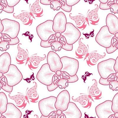 Adesivo Fundo floral no estilo do pontowork.