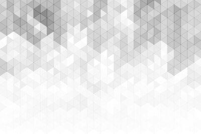Adesivo Fundo geométrico abstrato com formas cinzentas e brancas do triângulo do tom da cor.