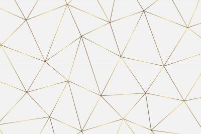 Adesivo fundo geométrico dourado