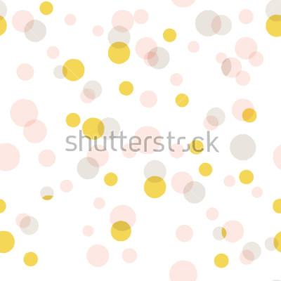 Adesivo Fundo grande dos confetes do vetor abstrato moderno. Padrão de pontos coloridos sem emenda.