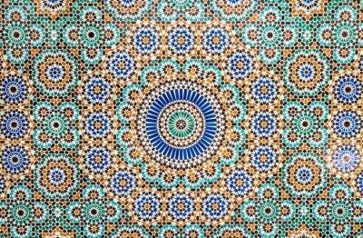 Adesivo Fundo marroquino da telha do vintage
