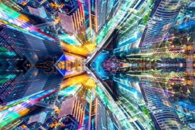 Adesivo Fundo moderno abstrato da cidade do sumário criativo do sci fi.