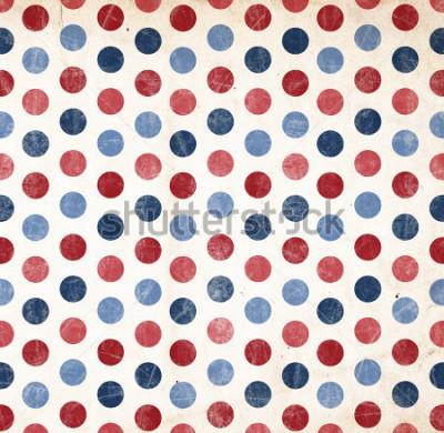Adesivo Fundo patriótico - pontos vermelhos e azuis