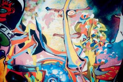 Adesivo Fundo pintura abstraia