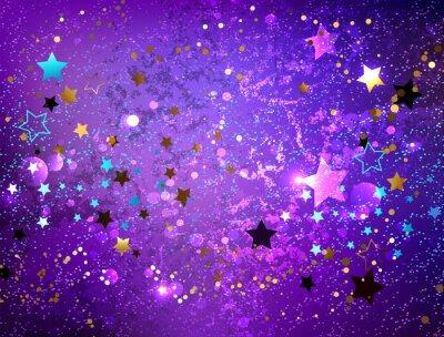 Adesivo Fundo roxo com estrelas