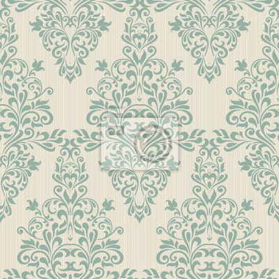 Adesivo Fundo sem emenda da cor verde no estilo de baroque__