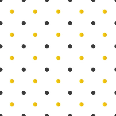 Adesivo Fundo sem emenda dos pontos de polca dourado e preto.