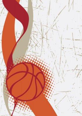 Adesivo Fundo vertical do basketball. Fundo abstrato