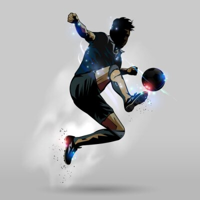 Adesivo Futebol de salto toque de bola 02