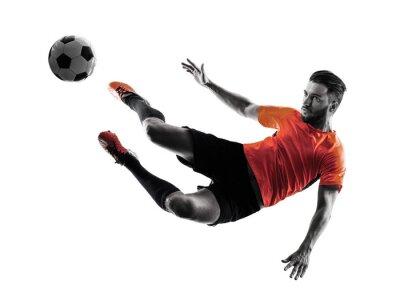 Adesivo Futebol, jogador, homem, isolado, silueta