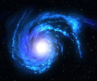 Adesivo Galáxia espiral no espaço profundo com fundo do campo de estrela.