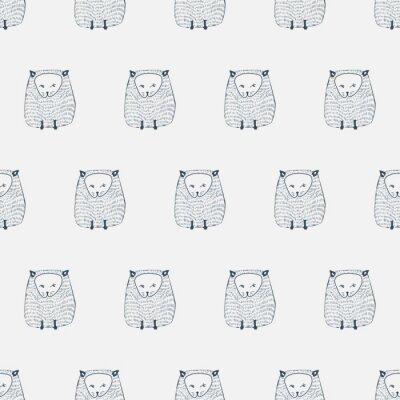 Adesivo Gatos padrão sem emenda. Fundo animal. Vector a ilustração