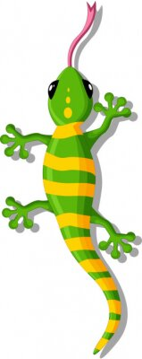 Adesivo Gecko dos desenhos animados para você projeto