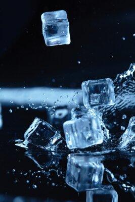 Adesivo Gelo, cubos, água, respingo