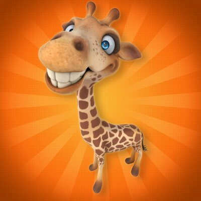 Adesivo Girafa divertida