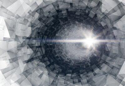 Adesivo Girando, digital, túnel, interior, com, Glowing, fim