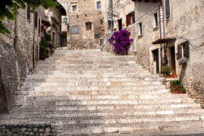 Adesivo glimpse of the old village of sermoneta