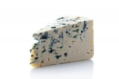 Adesivo Gorgonzola queijo isolado no branco