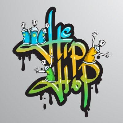 Adesivo Graffiti caracteres da palavra impressão