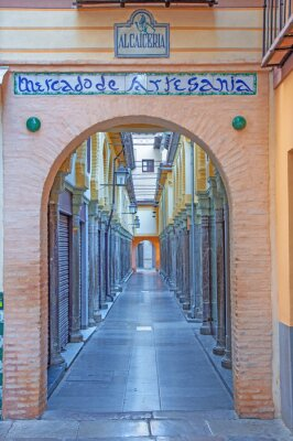 Adesivo Granada - O mercado Alcaiceria na manhã