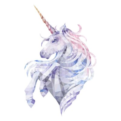 Adesivo Graphic low poly unicorn