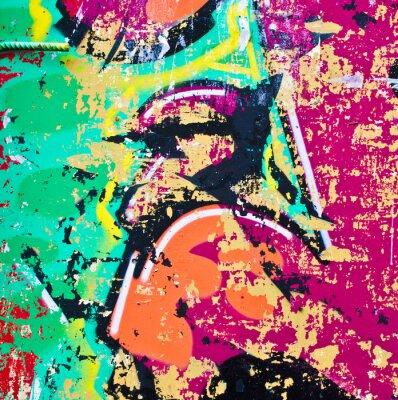Adesivo Grunge colorful metal background