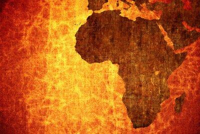 Adesivo Grunge do vintage riscado África mapa de fundo.