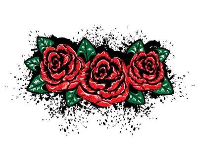 Adesivo Grunge Roses with Splatters