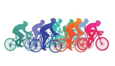 Adesivo Grupo de ciclistas na corrida de bicicleta