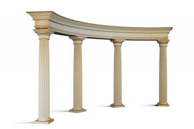 Adesivo Grupo de entrada com colunas no estilo clássico em um branco. 3