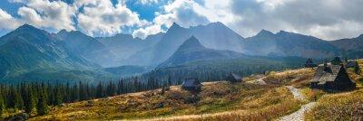 Adesivo Hala Gasienicowa em montanhas de Tatra - panorama