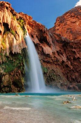 Adesivo Havasu cai no por do sol, cachoeiras no Grand Canyon, Arizona