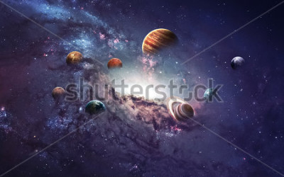 Adesivo High resolution images presents creating planets of the solar system. This image elements furnished by NASA.