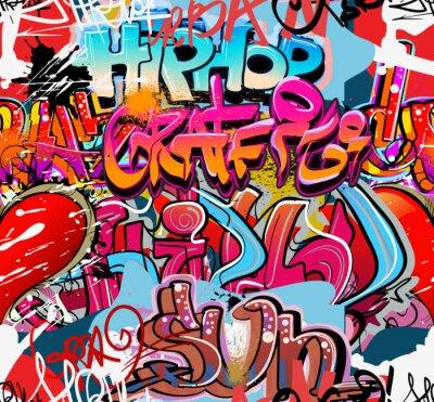 Adesivo Hip hop grafite arte urbana fundo