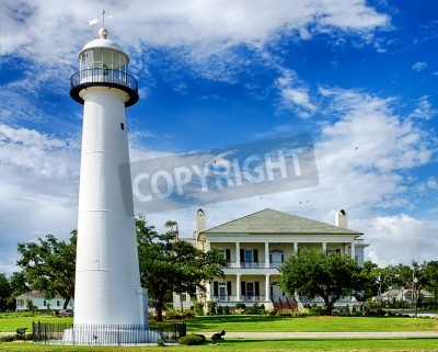 Adesivo Historic lighthouse landmark and welcome center in Biloxi, Mississippi