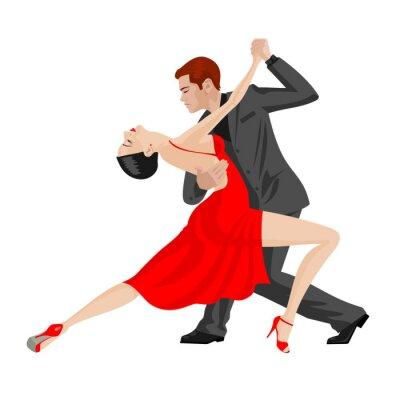 Adesivo homem e da mulher dançando