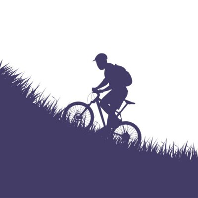 Adesivo homem na silhueta da bicicleta