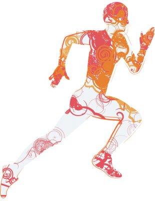 Adesivo homem running
