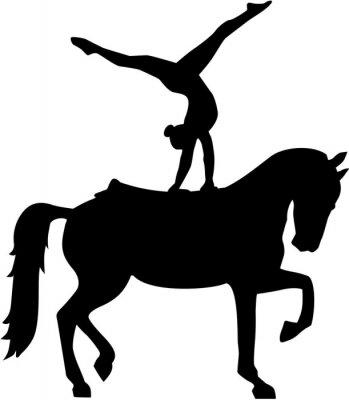Adesivo Horse Voltage silhouette Voltigieren