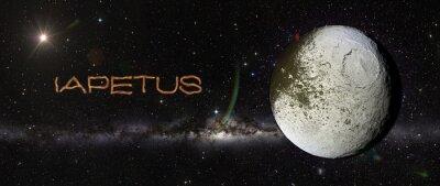 Adesivo Iapetus no espaço exterior.