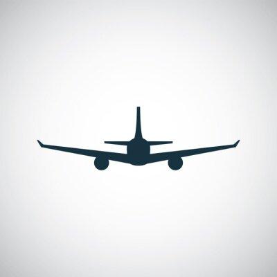 Adesivo ícone de avião