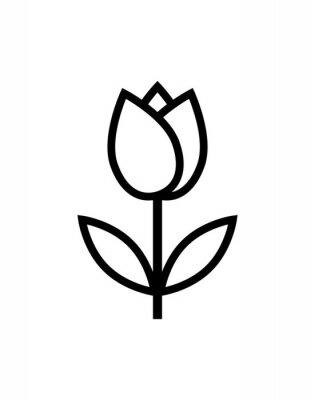 Adesivo ícone de flor tulipa
