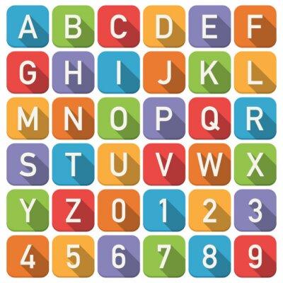 Adesivo Ícones do alfabeto